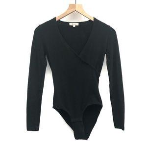 Madewell Black Long Sleeve Bodysuit - Size XS